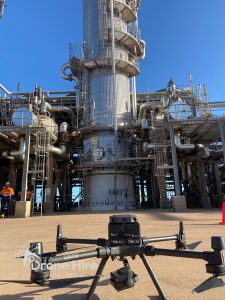 Valve Inspection from Callidus Process Solutions Australian Gas Company Drone