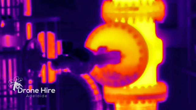 Thermal imaging inspection of the valve on Hazardous sites
